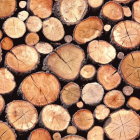 Holden Stacked Logs - Natural 97710 Wallpaper