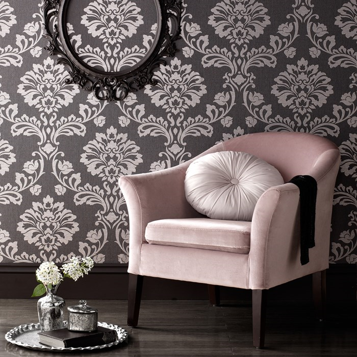 Superfresco Aurora Black Grey 20 708 Wallpaper
